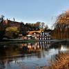 Shrewsbury School and boathouse, Shrewsbury.
