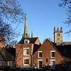 St Alkmunds (left) and St Julians churches, Shrewsbury.