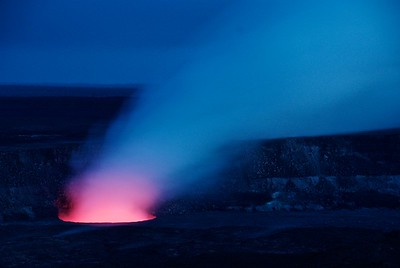 Hawaii Volcanoes National Park is home to two active volcanoes, Mauna Loa and Kilauea.
