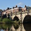 The English Bridge and river Severn, Shrewsbury.