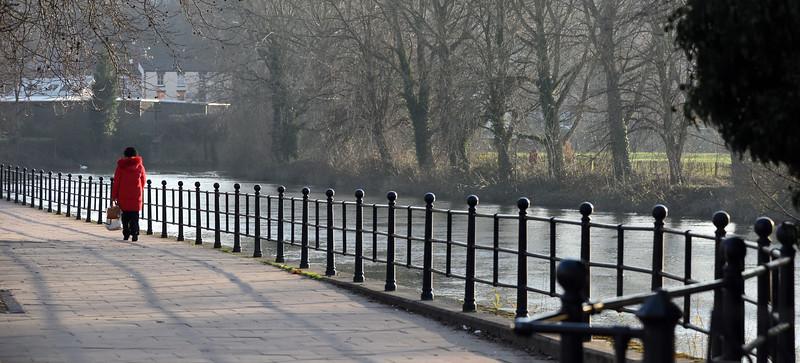 The river Severn at Coton Hill, Shrewsbury
