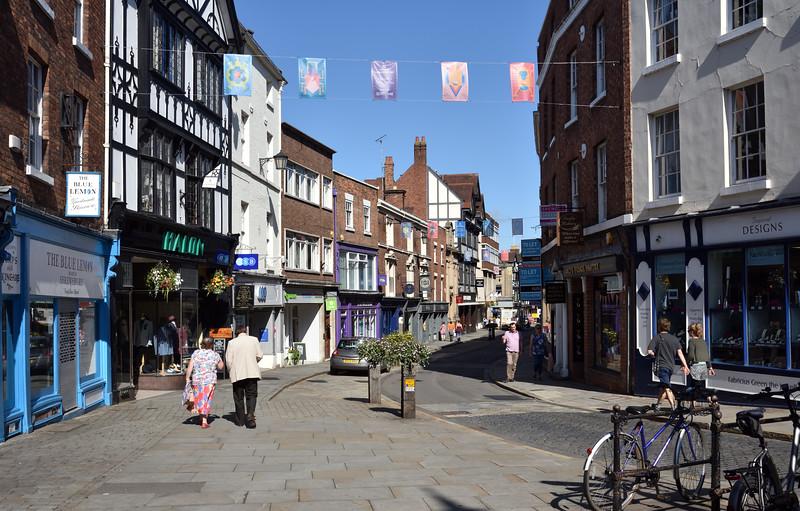 High Street, Shrewsbury town centre.