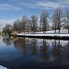 A view of the river Severn and Quarry Park, Shrewsbury.