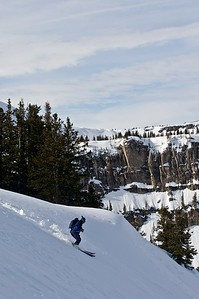 Back country skiing in Jackson Hole, Wyoming