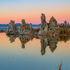 Mono Lake Tufa reflection  formation during sunset