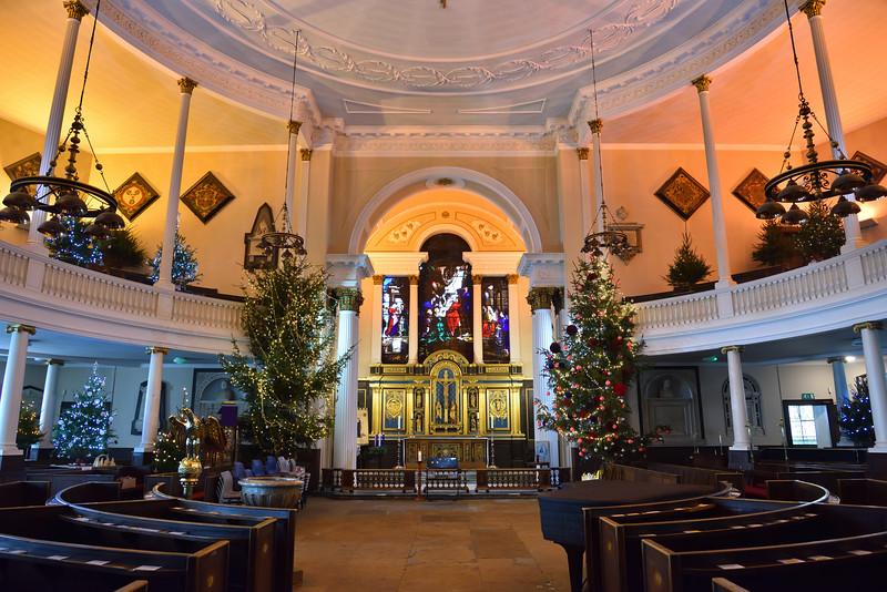 Interior of St. Chads church, Shrewsbury.