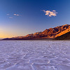 Sunset at Badwater Basin Death Valley