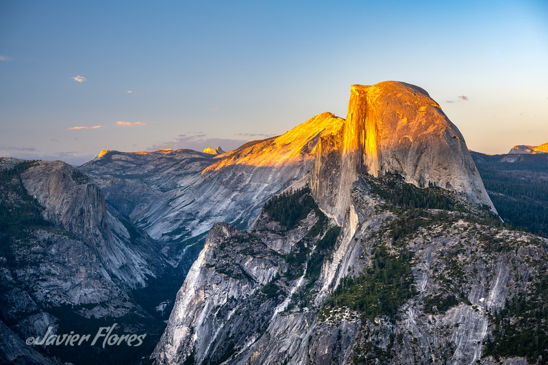 Sunset at Half Dome, Yosemite CA.