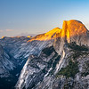 Sunset at Half Dome, Yosemite CA.