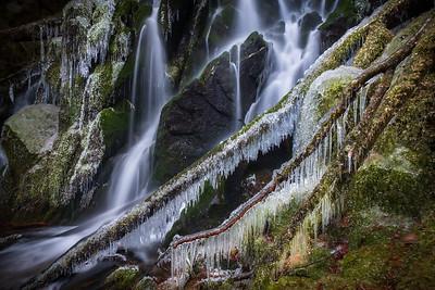 Frozen secret falls