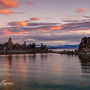 Red Clouds over Mono Lake