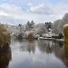 The River Severn viewed from the Welsh Bridge, Shrewsbury.