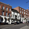 The Liuon Hotel and Wyle Cop, Shrewsbury town centre.