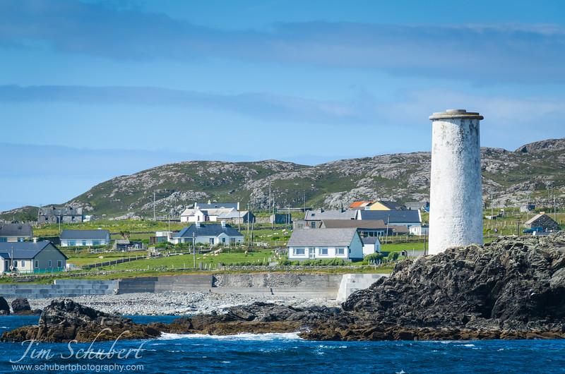 Rocky coastline of Inishbofin, Ireland.