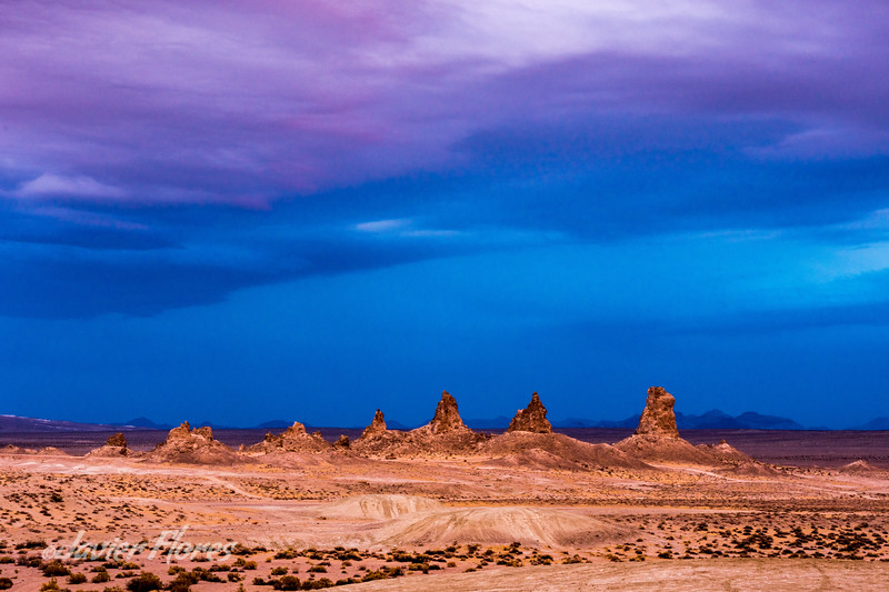Trona at sunset