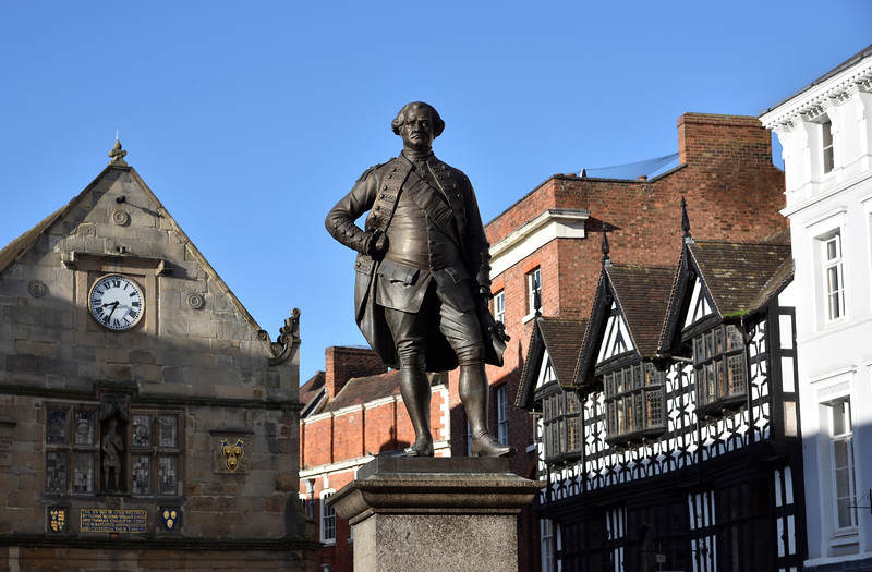 Lord Clive statue, the Square, Shrewsbury.