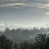 A view of Shrewsbury town centre from Hencote.