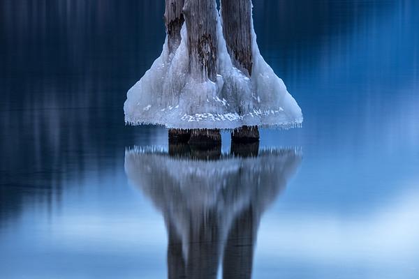 Frozen on Kootenay lake
