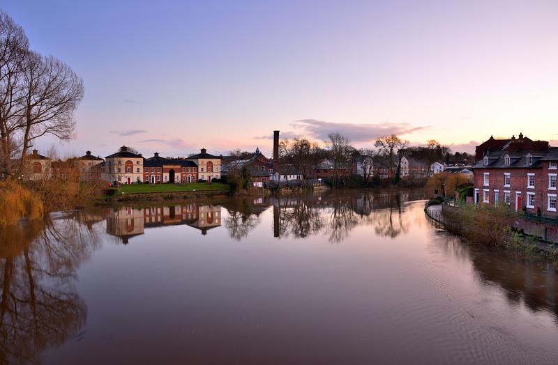River severn looking towards coleham, shrewsbury.