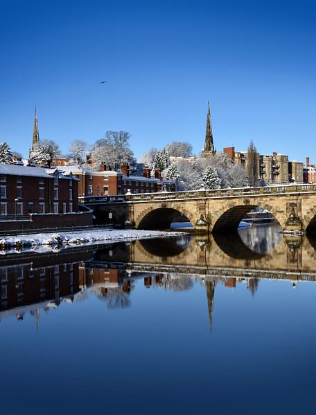 River Severn and English Bridge, Shrewsbury.