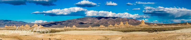 Panoramic of Trona Pinnacles