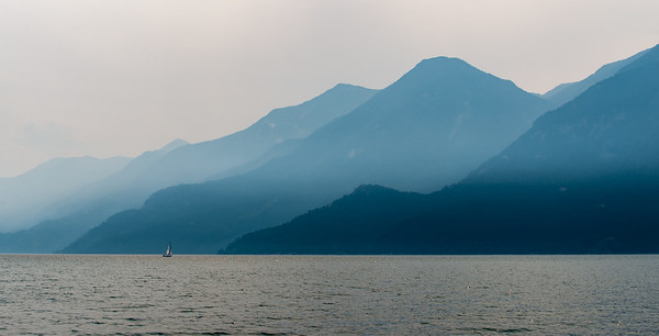 Smoke on the Water...sailing on Kootaney lake BC