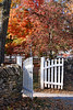 White Gate With Stone Wall     Shaker Town