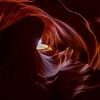Colorful slot canyon walls
