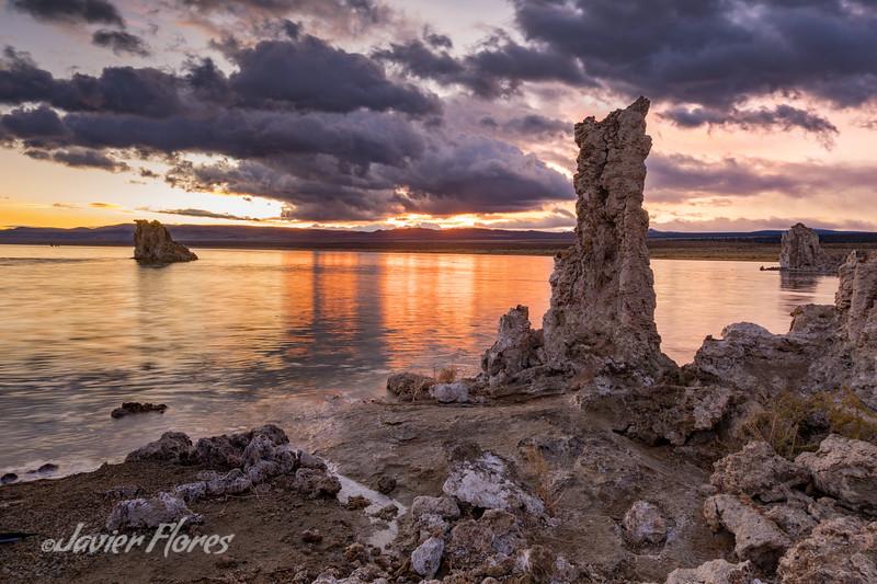 Mono Lake at Sunrise with Tufa formations