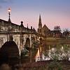 The English Bridge and united reformed church, Shrewsbury.