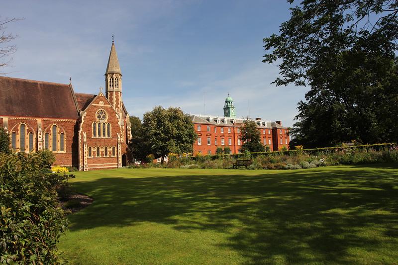Shrewsbury School and church.
