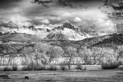 The Queen of the San Juans in Monochrome