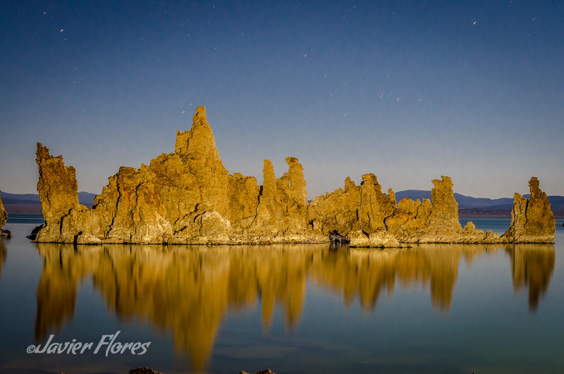 Mono Lake Tufa Island at night