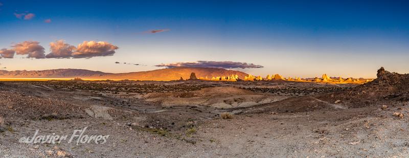 Trona Pinnacles at Sunset