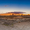 Trona Pinnacles at Sunset