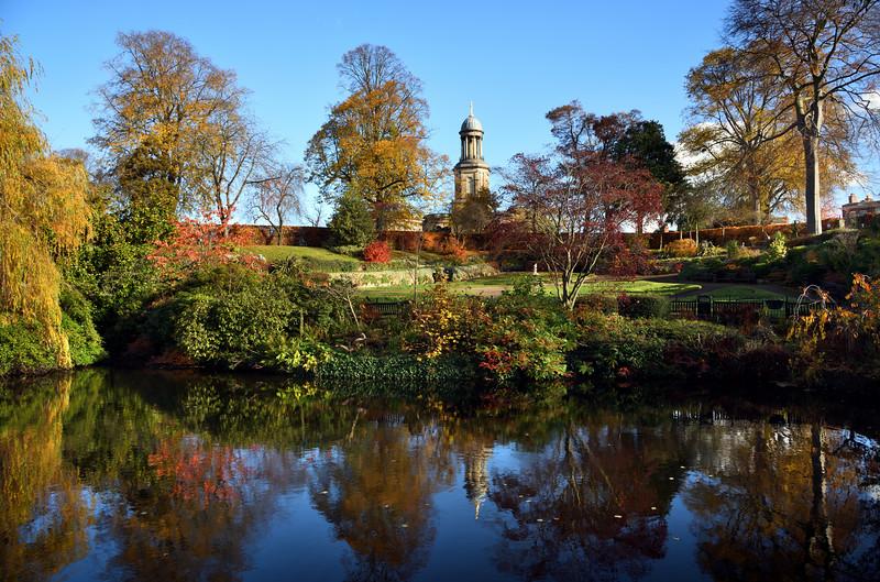 The Dingle, Shrewsbury in Autumn.