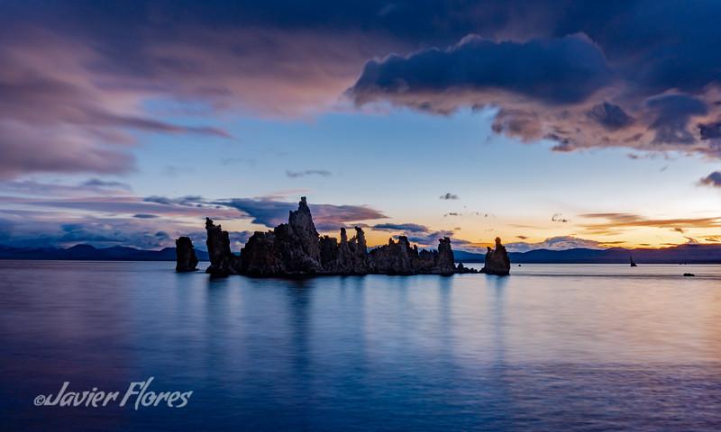 Mono Lake Tufa  formation during sunrise