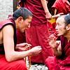 Monks debating at Drepung Monastery in Lhasa, Tibet