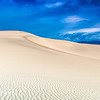 Blue and White Dunes
