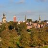 An view of Shrewsbury town centre taken from Shrewsbury School.