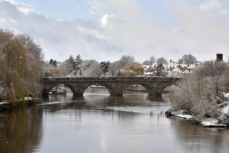 River Severn, Welsh Bridge, Shrewsbury.