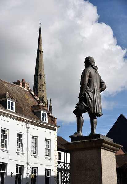 Lord Clive statue in the Square, Shrewsbury.