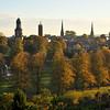 Autumn in the Quarry and Shrewsbury town centre viewed from Shrewsbury school.