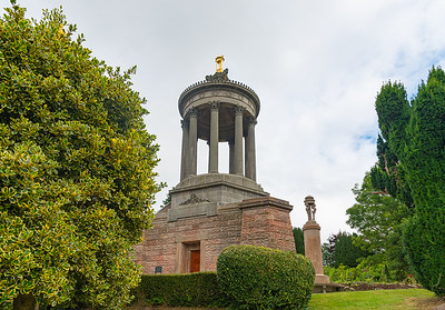 Robert Burns Memorial in Alloway near Ayr Scotland in Summer Scotland