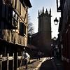 Fish Street and St Julians church, Shrewsbury.
