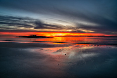 Christmas Sunset Hermit Island