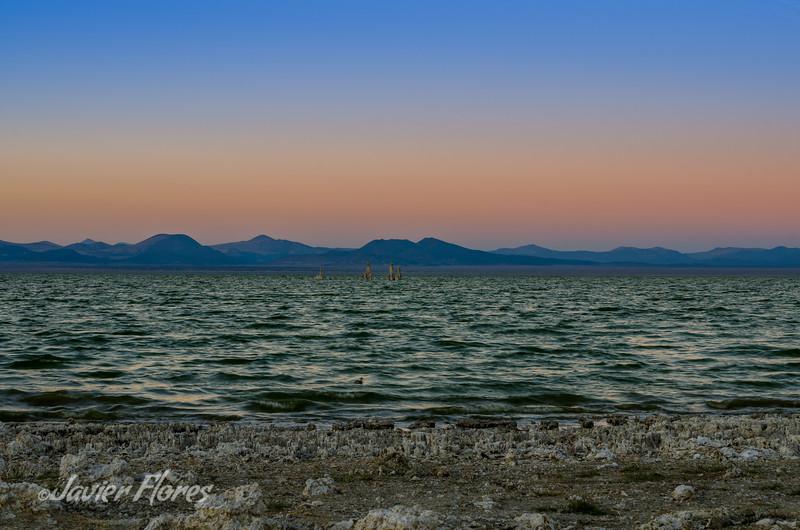 Mono Lake water at Sunset