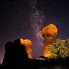 Milky Way and Balanced Rock