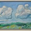 Landskab med skyer  olie  66 x 123 cm