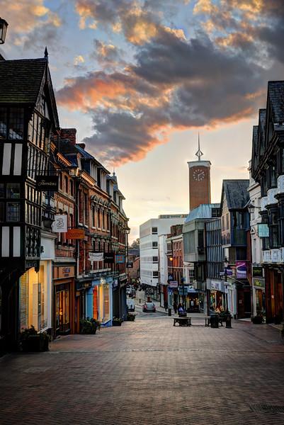 Pride Hill, Shrewsbury.